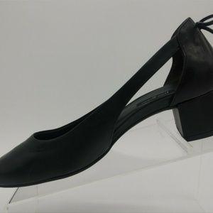 Paul Green Black Leather D'Orsay Heel Dress Shoe 5